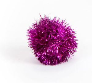 Tinsel cat toy sparkle ball cat toy