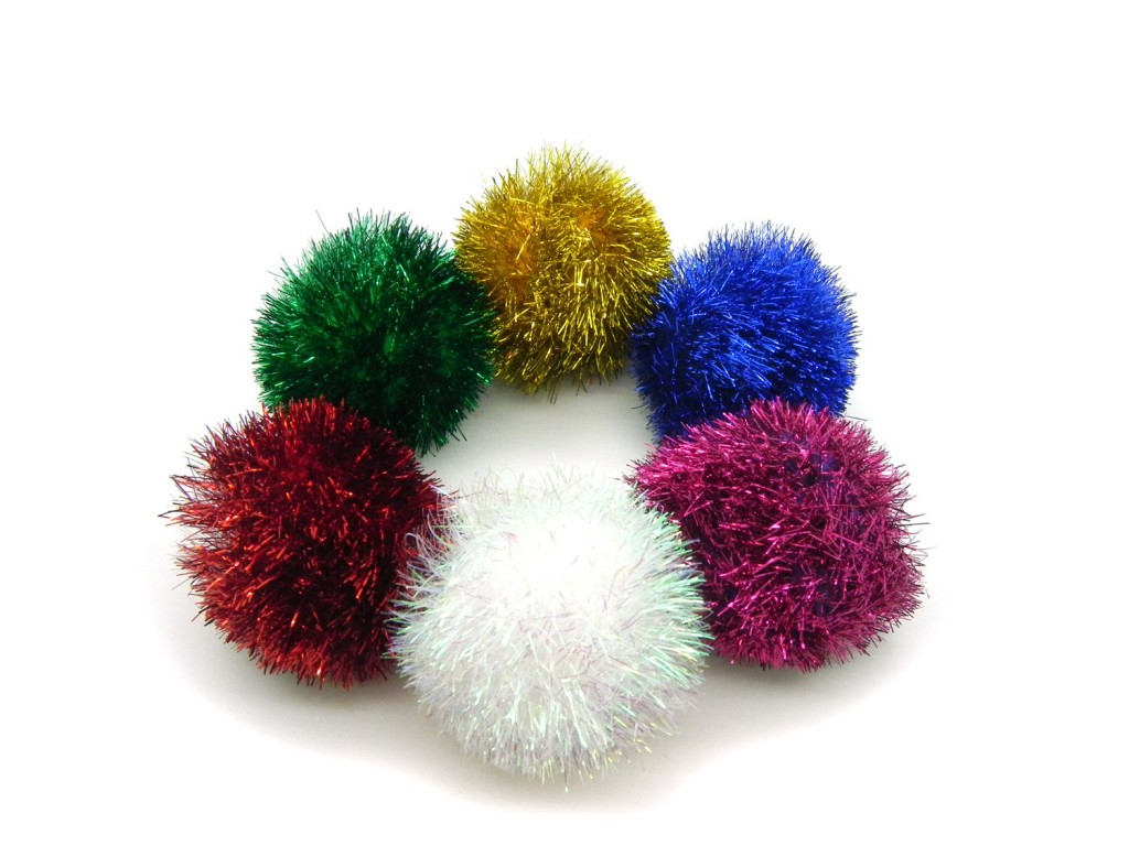 Sparkle ball cat toys in assorted colors