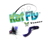 Cat Toy Wand Refill – Purple Kat Fly and Eel Set