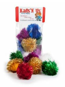 Sparkle ball tuff kitty puff cat toy