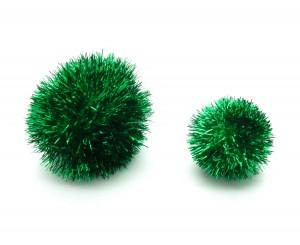 Sparkle Ball Pom Pom Cat Toy