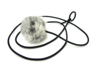rabbit fur bouncy ball cat toy