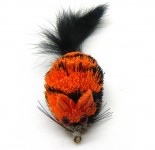 cat teaser refill orange tiger mouse