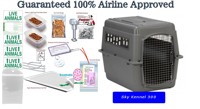 Sky Kennel 300 Pet Travel Carrier Package Kats N Us Pet