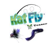 cat toy teaser katfly set