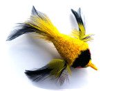 cat teaser wand refill - yellow bird